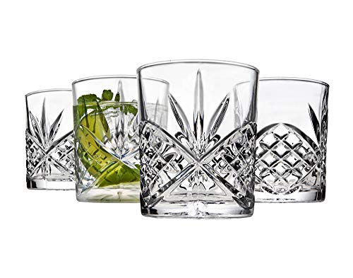 Godinger Old Fashioned Whiskey Glasses, Shatterproof and Reusable Acrylic - Dublin Collection, Set of ()