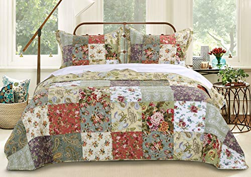 Greenland Home Blooming Prairie King 3-Piece Bedspread