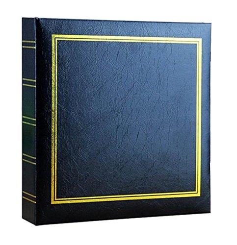 WEI - Álbum de Fotos de 10 x 15 cm con Capacidad para 200 Bolsillos, Color Negro, Negro