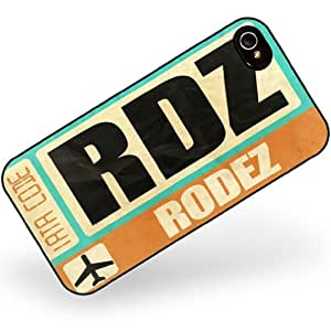 Rubber Case for iphone 4 4s Airportcode RDZ Rodez - Neonblond