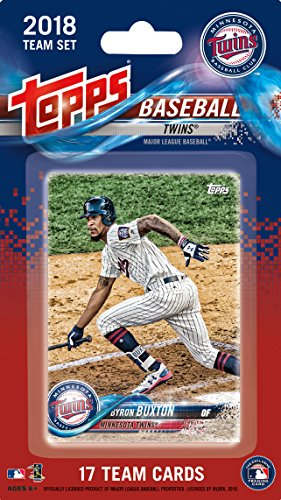 Twins Note Minnesota - Minnesota Twins 2018 Topps Factory Sealed Special Edition 17 Card Team Set with Joe Mauer and Byron Buxton Plus