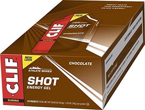 Clif Bar Chocolate Energy Gel - Box of 24 - chocolate, box of 24