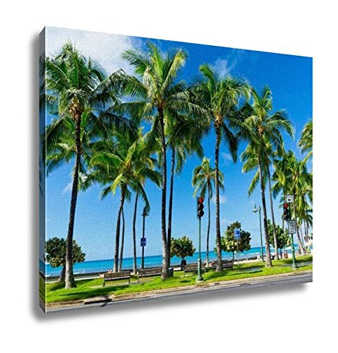 Ashley Canvas, Palms In Honolulu Hawaii United States, Home Decoration Office, Ready to Hang, 20x25, AG6409522 by Ashley Canvas