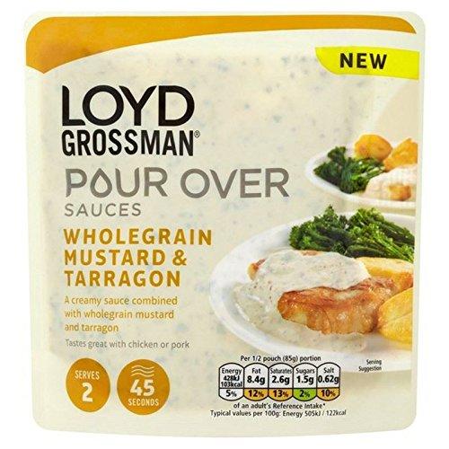Loyd Grossman Mostaza En Grano Y Estragón Vierta Sobre 170 G De Salsa (Paquete de