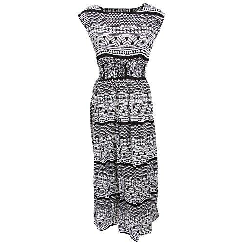 Universal Textiles Damen Dreieck Muster Maxi Sommerkleid ärmellos ...