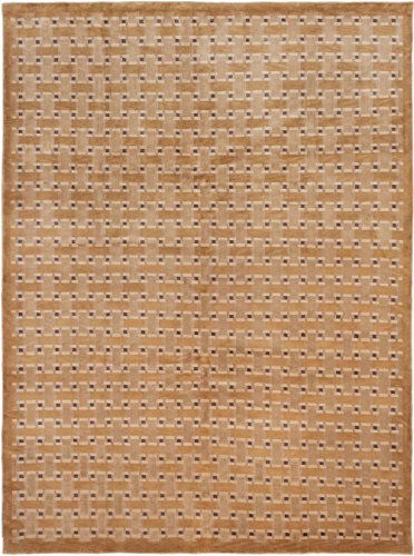 eCarpet Gallery Large Area Rug for Living Room, Bedroom | Hand-Knotted | 100% Wool | Aurora Transitional Brown Rug 9'1