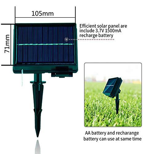 BXROIU Solar LED Lichterkette Aussen 200LEDs im 20meter KupferDraht 8 Modus Lights Wasserdicht IP65,Außen lichterkette (Warmweiß)