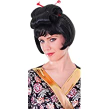 Ladies Fancy Dress Party Accessory Geisha Japanese Short Fake & Artificial Wig