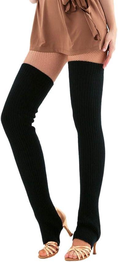 15 Colors Women Knitted Leg Warmers Knee-high Socks Ballet Yoga Stockings 75CM