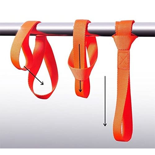 Red WINGONEER Soft Loop Tie Down Strap for Towing Cargo UTV ATV Motorcycle Snowmobile 1,700 lb 4pcs