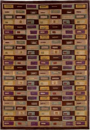 Silken Treasures Gabbeh/Aubergine Rug Size: 2'2
