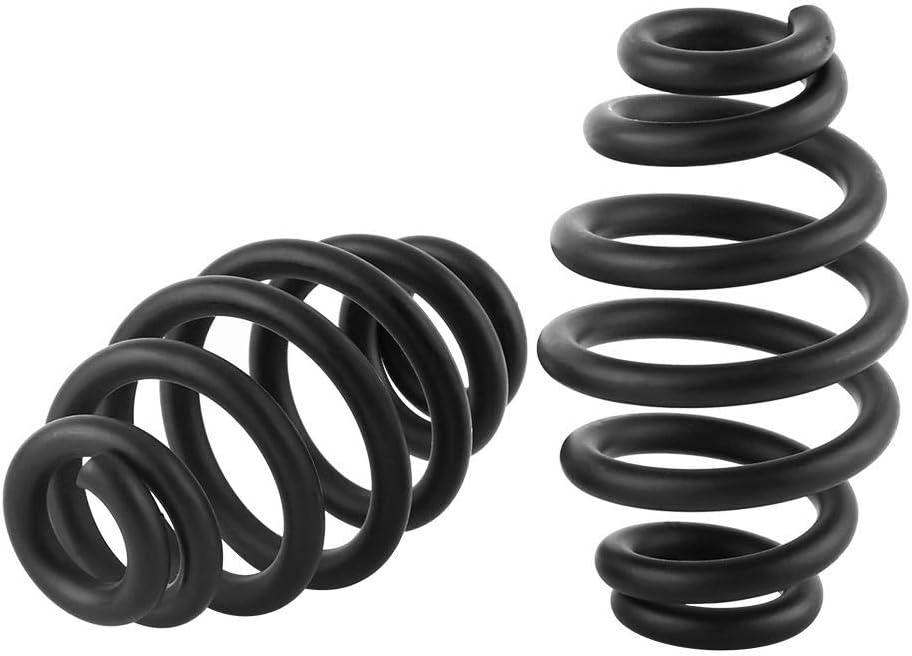 schwarz matt, 1 Paar verstellbar f/ür Motorrad Sitzfedern 3 Zoll Keenso Barrel Springs Sitzfedern Solo-Sitzfedern aus Stahl