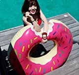 TopQPS Giant Donut Floaties-Pool Inflatable for Summer-Large Inflatable Donut Raft for Kids or Adults- over 4 feet Wide for Relaxing or Swimming