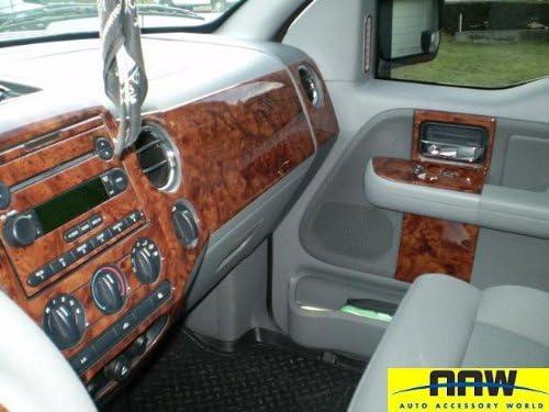 Ford F-150 F150 F 150 Interior BURL Wood Dash Trim KIT Set 2004 2005 2006 2007 2008