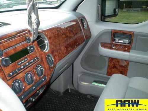 ford f 150 f150 f 150 interior burl wood dash trim kit set. Black Bedroom Furniture Sets. Home Design Ideas