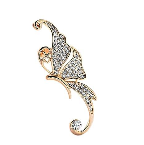 f1fdec67b2c1 Lumanuby Pendientes Moda Pendientes exagerados de los elfos de la forma de  la mariposa Colgante Earrings