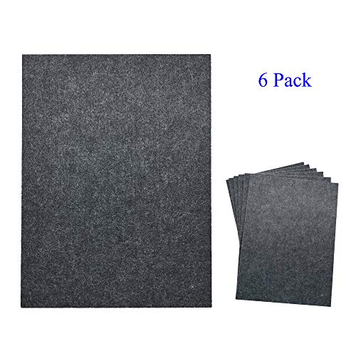 TroyStudio Acoustic Panel - Soundproofing & Sound Absorbing Panel - Super Dense Thick Polyester Fiber Board - Multiple Colors & Sizes - PACK of 6 (800 X 600 X 12 mm, Gray)
