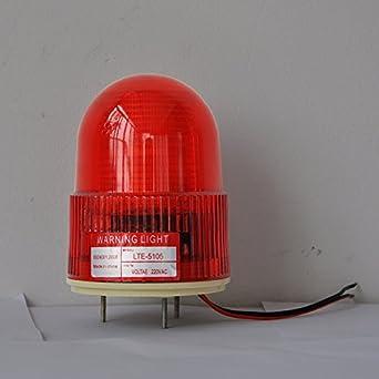 lte-5105j DC24 V 3 W luz estroboscópica de alarma de sonido ...