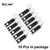 Keychain Flashlight 10 Pack, MECO Mini Flashlight LED Camping Keyring Flashlight, Portable Thin & Tiny Flash Light Torch Keychain Lamp Key Chain, 45 Lumen Micro Light