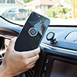 Magnetic Cell Phone Holder for Car -360° Rotation - Ultraslim Magnetic Car Phone Holder for Dashboard Suitable For All Phone Sizes, GPS or Light Tablets - Fits In Any Vehicle-Universal Design Car Phone Mount (Silver)