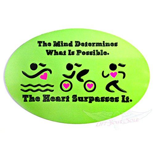 Automobile Car Magnet Triathlon The Mind Determines What Is Possible. The Heart Surpasses - Suits Me Triathlon Near