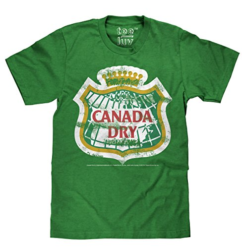 Tee Luv Canada Dry T-Shirt - Distressed Canada Dry Ginger Ale Shirt (Medium)