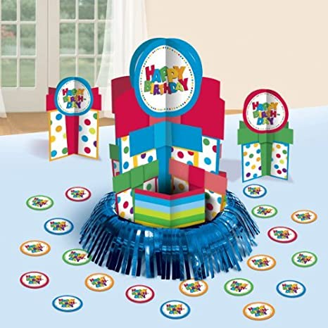 Image Unavailable Not Available For Color Happy Birthday Boy Polka Dots Table Decorating