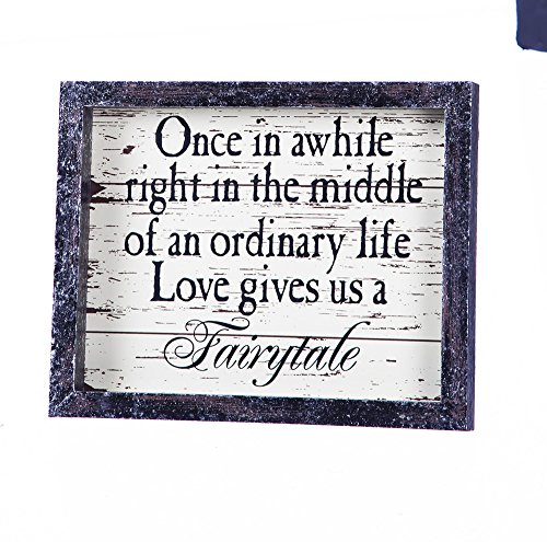 """Cheap Cypress Home Love Gives Us a Fairytale Wooden Tabletop Plaque – 8""""W x 1""""D x 10""""H"""