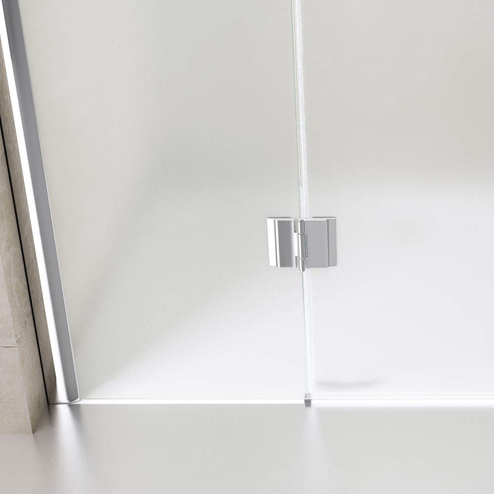 Durovin Bathrooms L Shape Shower Enclosure Waste Kit 8mm Safety Frosted Glass with Acrylic Shower Tray 900mm x 900mm Hinged Door with Towel Rail Handle