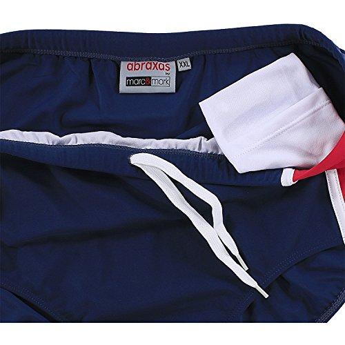 Slip Bain Jusqu'au Grandes 8xl Tailles De Bleu Abraxas rouge Marine HqEdfw1