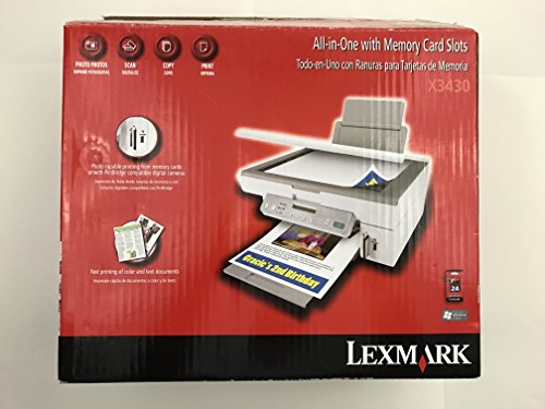 Memory Cards Printer Lexmark (Lexmark X3430 All-In-One With Memory Card Slots Color Printer)