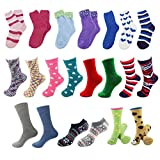 Sock of the Month Club - Fuzzy Cozy Home Socks for Women - 3 pr/mo for 3 Months