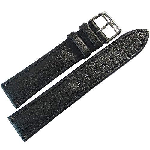 Lorica Strap - Eulit Lorica 18mm Black Vegan Leather Waterproof Watch Strap
