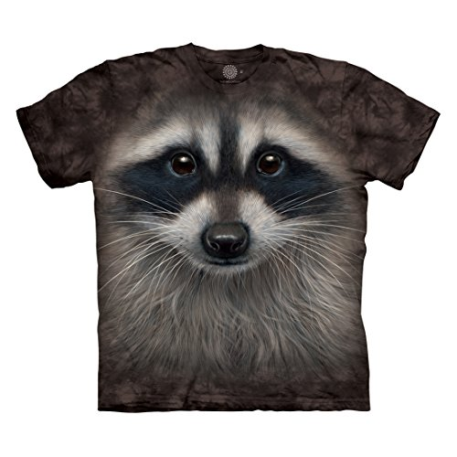 (The Mountain Men's Raccoon Face T-Shirt, Black, 3XL)