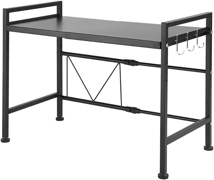 SINGAYE Expandable Shelf Kitchen Cabinet and Counter Shelf Organizer (Expandable Shelf -Black)