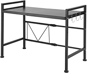 SINGAYE Expandable Shelf Kitchen Cabinet and Counter Shelf Organizer (Expandable Shelf -Black)