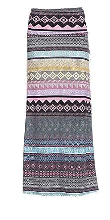 Gravity Threads Women's Fashion Designer Pattern Span Maxi Skirt, Another C95