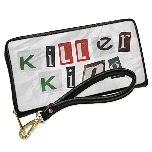 Wallet Clutch Killer King Ransom Blackmail Letter with Removable Wristlet Strap Neonblond