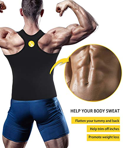 368d396c2f4 Junlan Men Sweat Waist Trainer Tank Top Vest for Weight Loss Neoprene  Workout Shirt Sauna Body