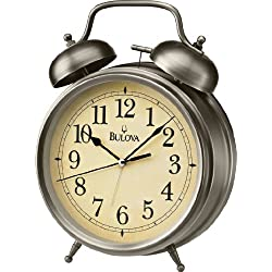 Bulova Brayton Table Top Alarm Clock - B6847