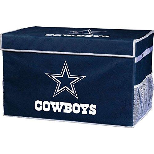 Franklin Sports NFL Dallas Cowboys Collapsible Storage Footlocker Bin - Small