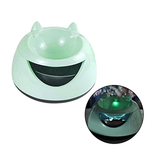 Auoker Fuente de Agua Silenciosa para Mascotas, 1.5L Ajustables Bebedero Automático Eléctrico para Gato, ...