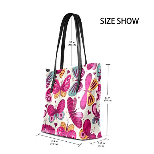 Bags Pu Pattern Bag Women Purse Purse Shoulder Tote Coosun Muticolour And Leather Means Butterflies For axYwqUcStA