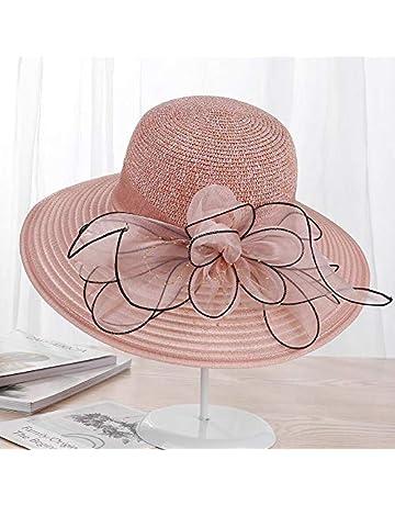 4c3bee57c0e URNGLB Large Wide Brim Organza Flower Sun Ladies Kentucky Derby Wedding  Party Dress Floppy Summer Hats