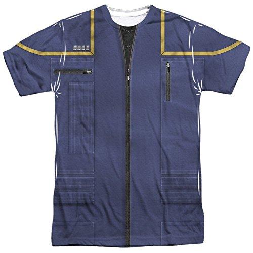 Star Trek The Next Generation Enterprise Command Uniform Costume All Over Print Front / Back T-Shirt (Star Trek Enterprise Uniform)