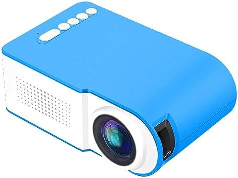 Opinión sobre Zhoutao YG210 320x240 400600LM Mini proyector LED de Cine en casa, Compatible con HDMI y AV y SD y USB, versión de batería (Color : Blue)
