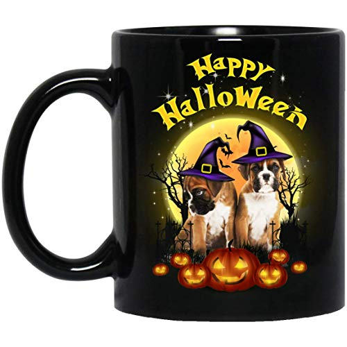 Funny Boxer Happy Halloween Dog Lovers Mug Decorations Gifts
