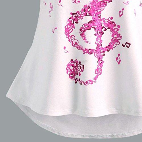 Imprimir C De Chaleco Sin Con Vendajes Manga Tirantes Música Blusas Camisetas Mujer Tops Para Logobeing tqf1HH