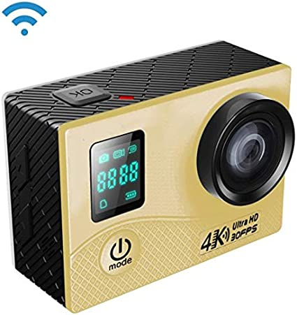 ZXCV Cámara Deportiva 4K WiFi con Estuche Impermeable, Pantalla Frontal de 0.66 Pulgadas, Pantalla LCD de 2.0 Pulgadas, Lente Gran Angular de 170 Grados,Metálico: Amazon.es: Deportes y aire libre