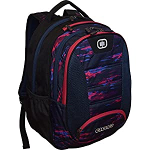 "OGIO Carbon Double Gusset 17"" Laptop Backpack School Bag, Whimsical"